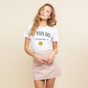 Bedrukt T-shirt met ronde hals en korte mouwen RAD