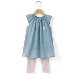 Ensemble 2 pièces (robe + legging) 1 mois - 3 ans R mini