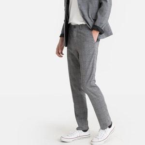 Verkorte slim broek met ruiten