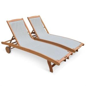 chaise longue transat en solde la redoute. Black Bedroom Furniture Sets. Home Design Ideas