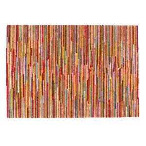 Alfombra de tuft de lana a rayas multicolores, Linje La Redoute Interieurs