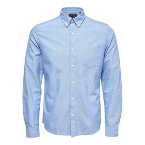 Camisa recta y lisa de manga larga ONLY & SONS