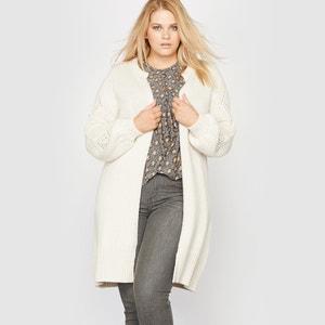 Gilet molto lungo maglia pesante 30% lana CASTALUNA
