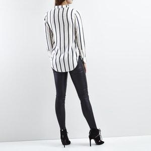 Blouse col polo,  chemise imprimé rayures VILA