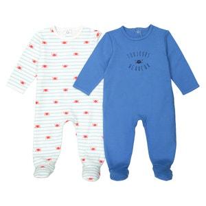 Bedrukte pyjama 0-3 jaar, set van 2 Oeko Tex La Redoute Collections
