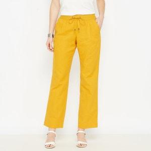 Pantalon large, lin majoritaire ANNE WEYBURN