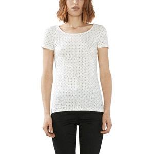 Tee shirt col rond, imprimé ESPRIT