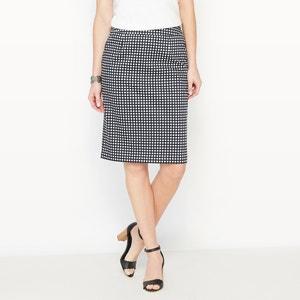 Falda estampada de satén de algodón stretch ANNE WEYBURN