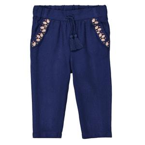Pantalon droit brodé 1 mois - 3 ans La Redoute Collections