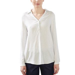 Gestreepte blouse met lange mouwen ESPRIT