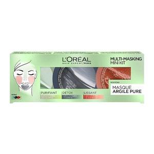 Argile Pure Coffret Multimasking 3 X 10ml L'OREAL PARIS