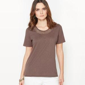 T-shirt em algodão penteado ANNE WEYBURN
