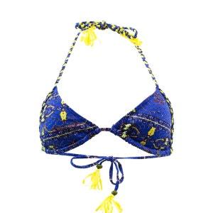 Maillot de bain Triangle Africain Bleu KIWI SAINT TROPEZ