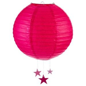 Lanterne Boule - Diam. 35 cm. - Fuchsia ATMOSPHERA