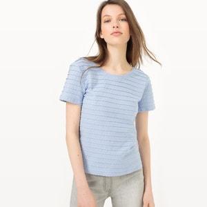 Gładka koszulka ze zdobieniem MADEMOISELLE R