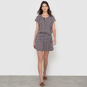 Kleid, bedruckt, kurze Ärmel R studio