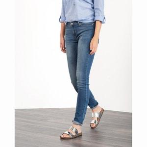 Rechte jeans met halfhoge taille ESPRIT