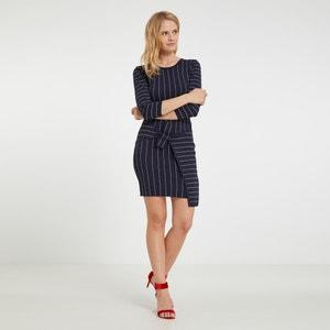 Wijd uitlopende korte jurk met grafische print MORGAN