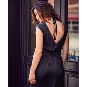Lange jurk zonder mouwen in jerseytricot CASTALUNA