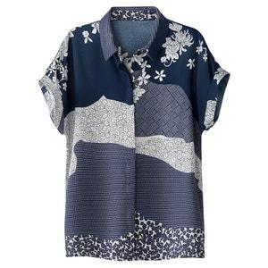 Camicia collo polo, camicia fantasia floreale La Redoute Collections