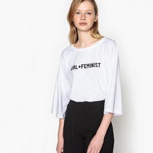 T-shirt maniche lunghe, fantasia femminista La Redoute Collections