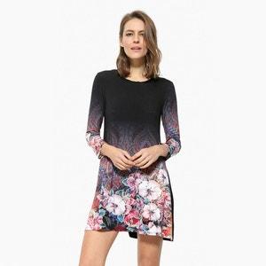 Graphic Floral Print Short Dress DESIGUAL