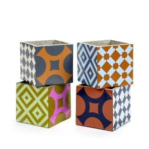 4 Pots Béton Cubique Marie Print 15 x 15 x 15 cm Serax SERAX