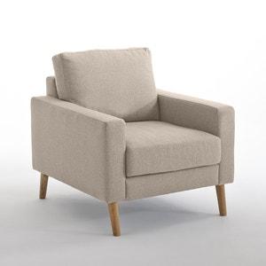 Fauteuil fixe Stockholm polyester chiné, confort Excellence La Redoute Interieurs