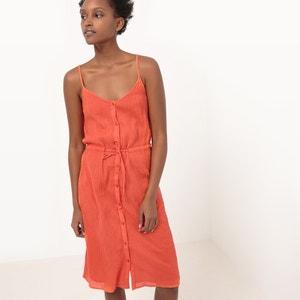 Sukienka na cienkich ramiączkach z krepy bawełnianej R essentiel