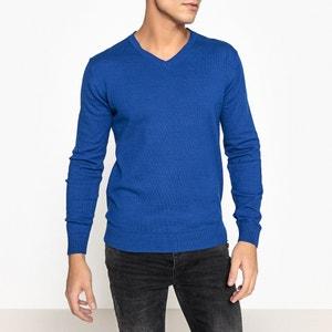 Пуловер с V-образным вырезом, 100% хлопка La Redoute Collections