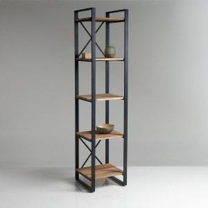 Kolom met 5 legplanken, in eikenhout en staal, Hiba La Redoute Interieurs