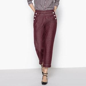 Pantalon large à pont La Redoute Collections