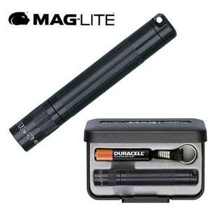 Lampe Torche de Poche Porte-cles Maglite Solitaire - Noire - 8 cm + Coffret + Pile AAA + Ampoule MAGLITE