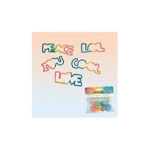 Bracelets Elastiques Silicone Words, Cadeau Enfant KAS DESIGN