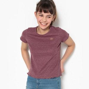 T-shirt court en côtes 10-16 ans La Redoute Collections