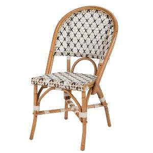 Chaise bistrot blanche - Porto - Polyrotin ROTIN DESIGN