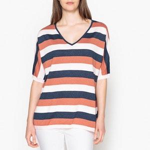 Gestreepte trui met korte mouwen in fijn tricot MARIE SIXTINE