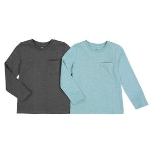 Set van 2 T-shirts met lange mouwen 3-14 jaar