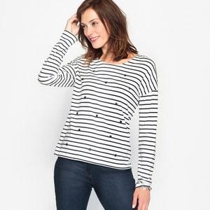 T-shirt w paski, bawełna i Modal ANNE WEYBURN