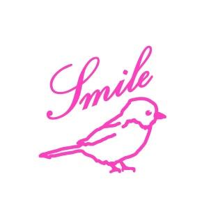 Mini Sticker Rose Fluo Smile Oiseau Mimilou MIMI'LOU