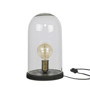 Lampe à poser industrielle verre et bois L Cover Up DRAWER