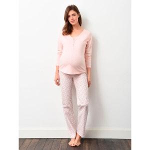 Pyjama 3 pièces grossesse et allaitement Colline by Vertbaudet