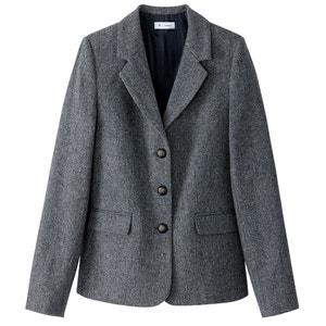 Taillierter Blazer aus Polyester/Wolle R essentiel