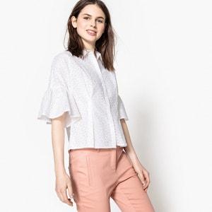 Bluse mit Lochstickerei und ausgestellten Ärmeln MADEMOISELLE R
