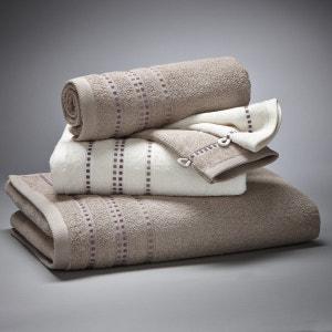 Lot 1 drap de bain + 2 serviettes + 2 gants, 420 g/m2 La Redoute Interieurs