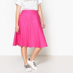 Plain Midi Flared Skirt CASTALUNA