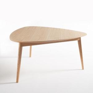 Mesa de comedor triangular en roble 6 plazas, Biface