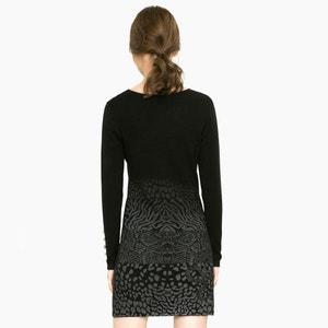 Vestido corto, manga larga DESIGUAL