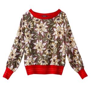 Langärmelige Bluse, geblümt La Redoute Collections