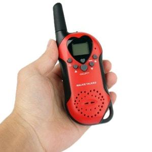Set Talkie walkie push to talk portée 3-5 km écran LCD 8 canaux Rouge Yonis